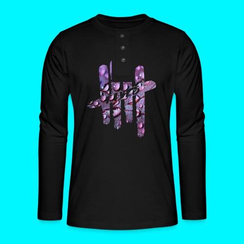 FIVES purple drops - T-shirt manches longues Henley