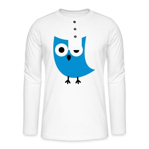 Uiltje - Henley shirt met lange mouwen