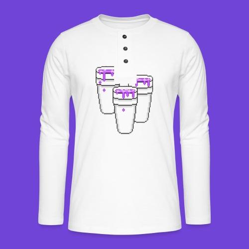Purple - Maglia a manica lunga Henley