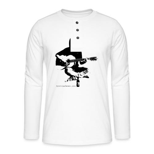 Cynthia Janes guitar BLACK - Henley long-sleeved shirt