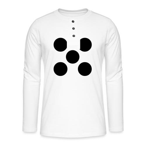 Dado - Camiseta panadera de manga larga Henley