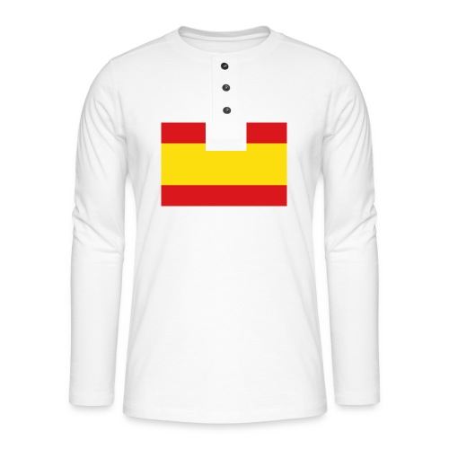 vlag van spanje - Henley shirt met lange mouwen