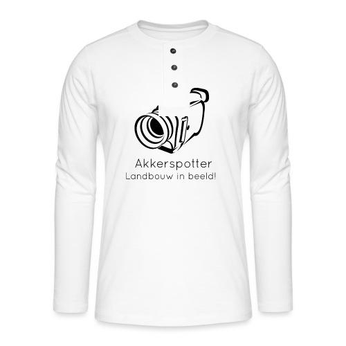 Logo akkerspotter - Henley shirt met lange mouwen