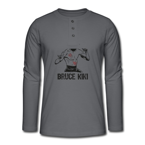 Bruce kiki - T-shirt manches longues Henley