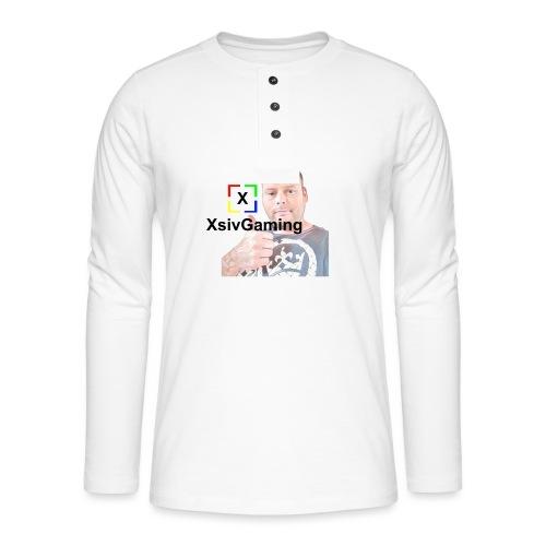 xsivgaming face - Henley long-sleeved shirt