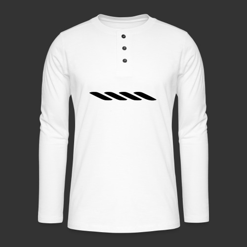 Rope With Bite Logo - Henley long-sleeved shirt