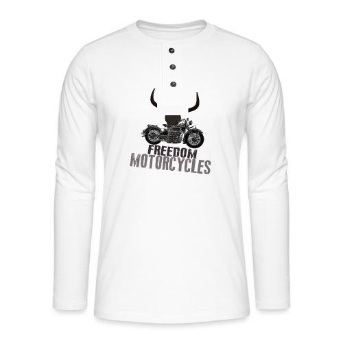 FREEDOM MOTORCYCLES - Camiseta panadera de manga larga Henley