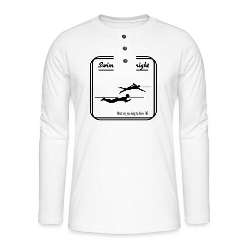 Swimming tonight - Henley pitkähihainen paita