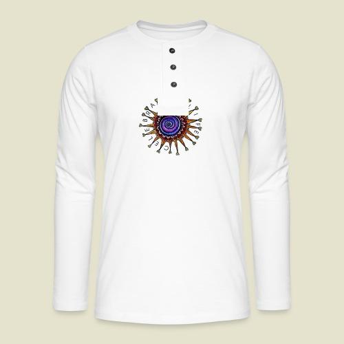 Celebrate Life Mandala - Henley Langarmshirt