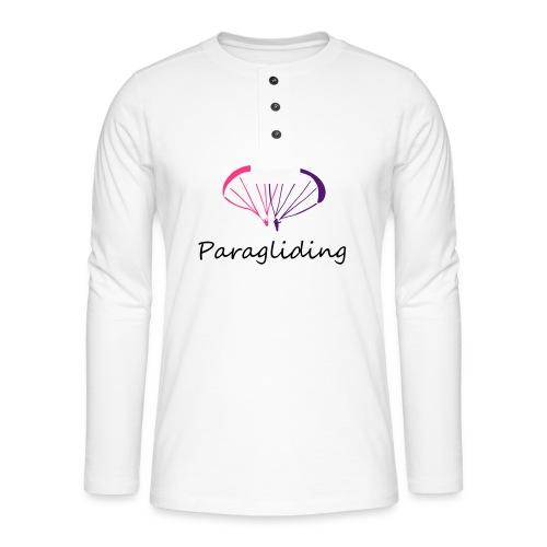 I Love Paragliding V2 - Henley long-sleeved shirt