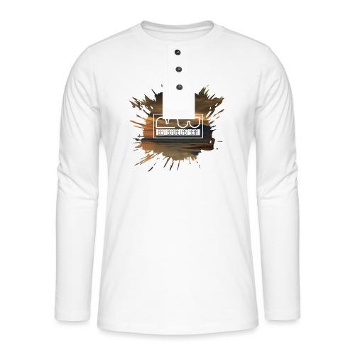 Men's shirt Splatter - Henley long-sleeved shirt