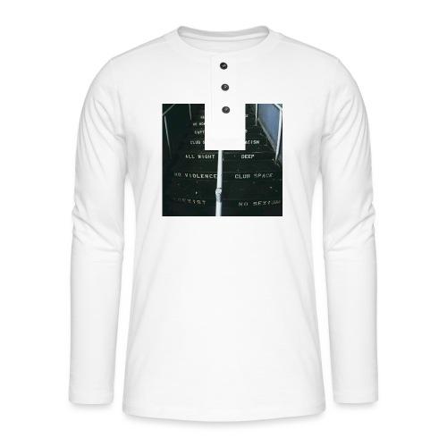 lawsoftechno - Henley shirt met lange mouwen