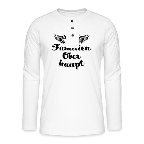 45 Familien Oberhaupt Krone Flügel - Henley Langarmshirt