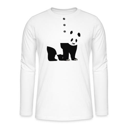 Panda - Henley pitkähihainen paita