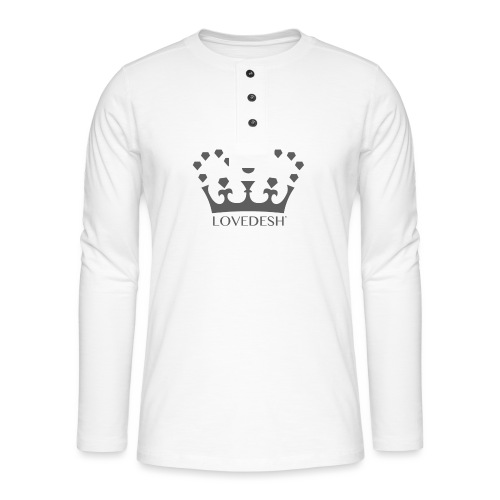 Lovedesh Crown (Dark Grey) - Henley long-sleeved shirt