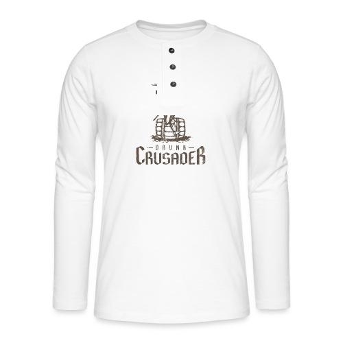 Drunk Crusader - Henley Langarmshirt