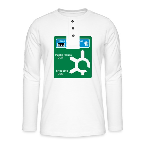 HOME_FOR_CHRISTMAS_SIGN - Henley long-sleeved shirt