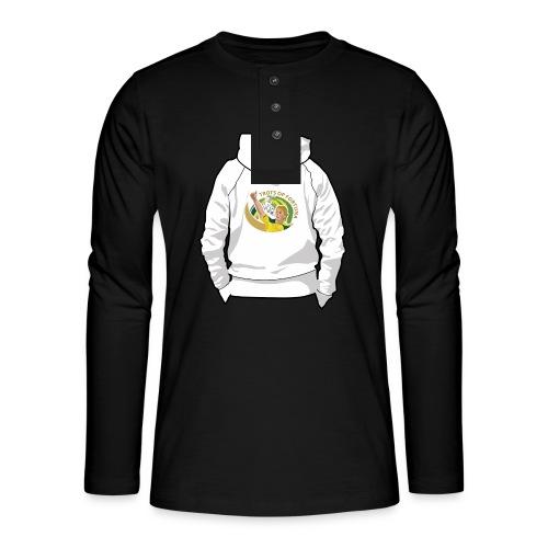 hoodyback - Henley shirt met lange mouwen