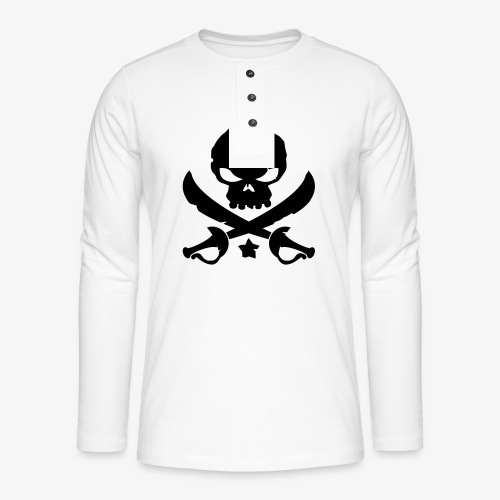 Pirate Destroy - T-shirt manches longues Henley