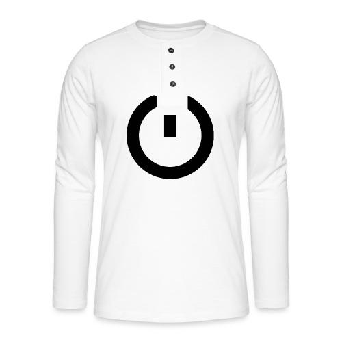 Camiseta GEEK mujer - Arreglo todo reiniciando - Camiseta panadera de manga larga Henley