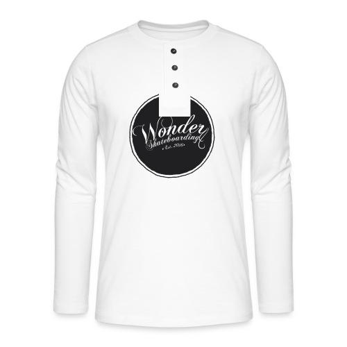 Wonder T-shirt - oldschool logo - Henley T-shirt med lange ærmer