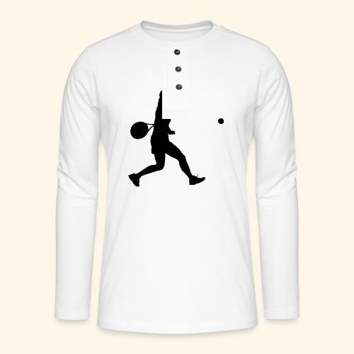 tennis woman 2 - T-shirt manches longues Henley