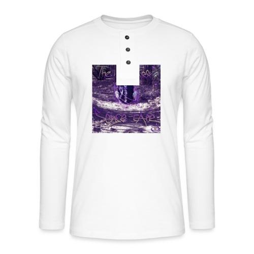the first sense tape jpg - Henley long-sleeved shirt