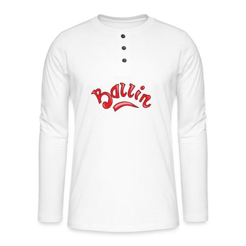 Ballin - Henley shirt met lange mouwen