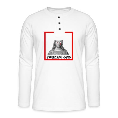 Crucify God | Sad Jesus - Henley pitkähihainen paita