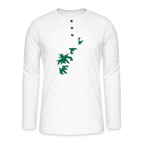 Green Leaves - Henley Langarmshirt