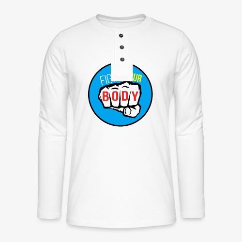 logo fyb bleu ciel - T-shirt manches longues Henley