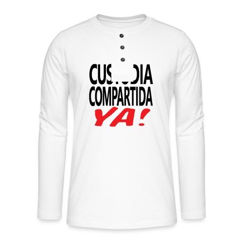 Custodia Compartida YA Negro - Camiseta panadera de manga larga Henley