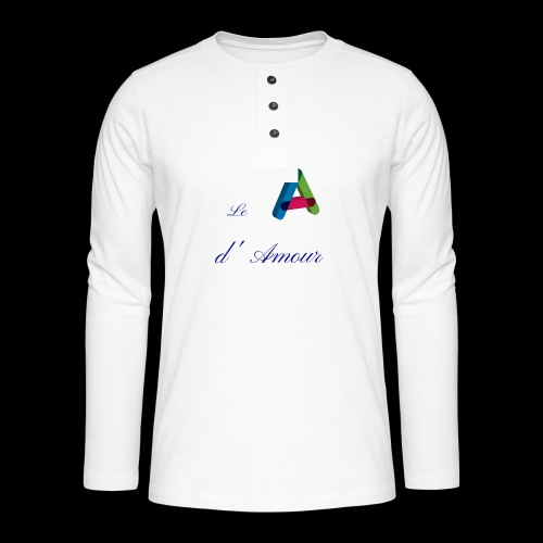 Alphabet - T-shirt manches longues Henley