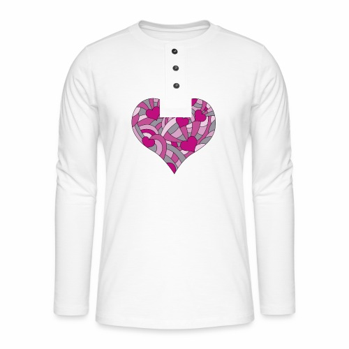 Herzen viola - Henley Langarmshirt