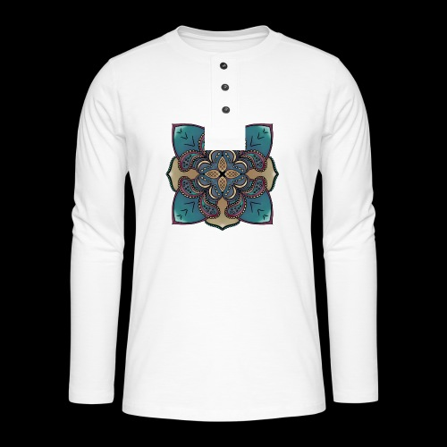 cute Mandala style design - Henley long-sleeved shirt