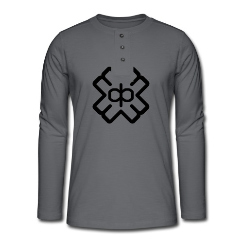 d3ep logo black png - Henley long-sleeved shirt