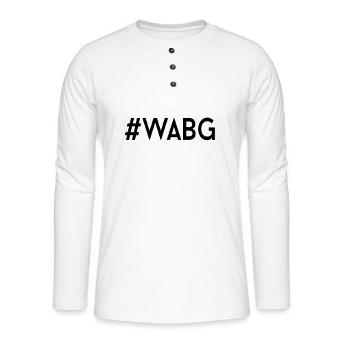 WABG ZWART png - Henley shirt met lange mouwen