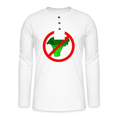 no broccoli allowed - Henley long-sleeved shirt