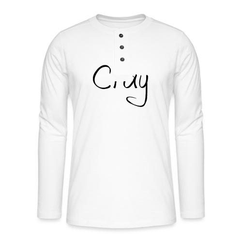 Cray Black Schrifft - Henley Langarmshirt