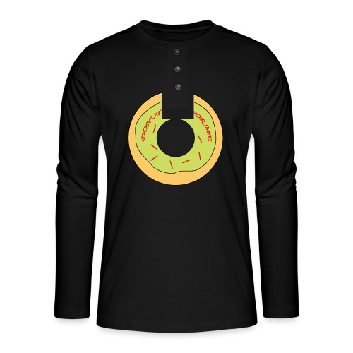 Donut Come For Me Red - Henley long-sleeved shirt