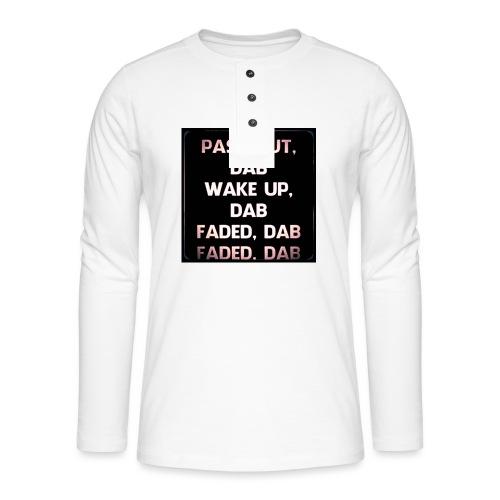 DAB - Henley shirt met lange mouwen