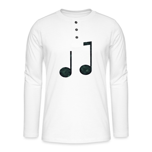Low Poly Geometric Music Note - Henley long-sleeved shirt