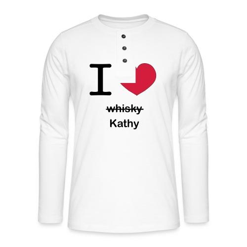 ilovekathy - Henley shirt met lange mouwen