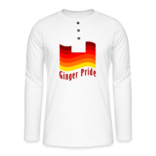 Ginger Pride flag Dark png - Henley long-sleeved shirt