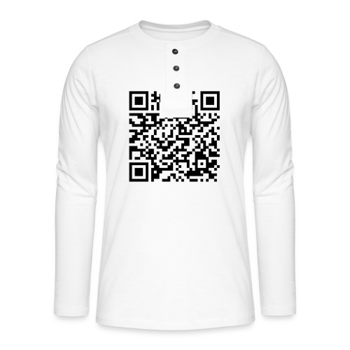static qr code without logo2 png - Maglia a manica lunga Henley