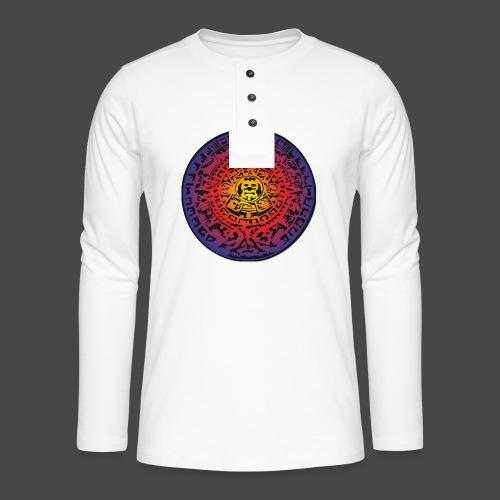 Maya-Kalender bunt - Henley Langarmshirt