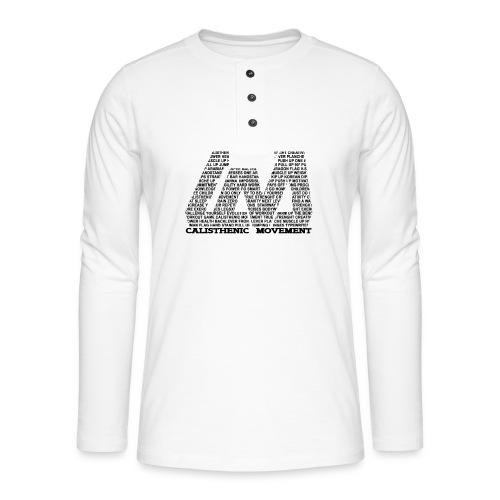 CM Logo aus Text schwarz - Henley Langarmshirt