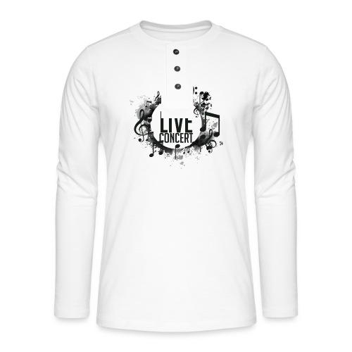 musica - Camiseta panadera de manga larga Henley