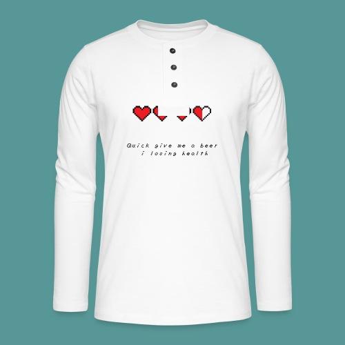 The Legend of Drunk - Henley shirt met lange mouwen