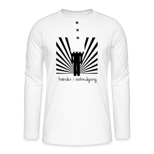 solnedgang trykk - Henley langermet T-skjorte